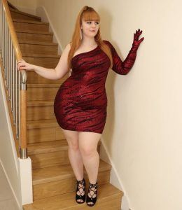 Curvy In A Tight Dress
