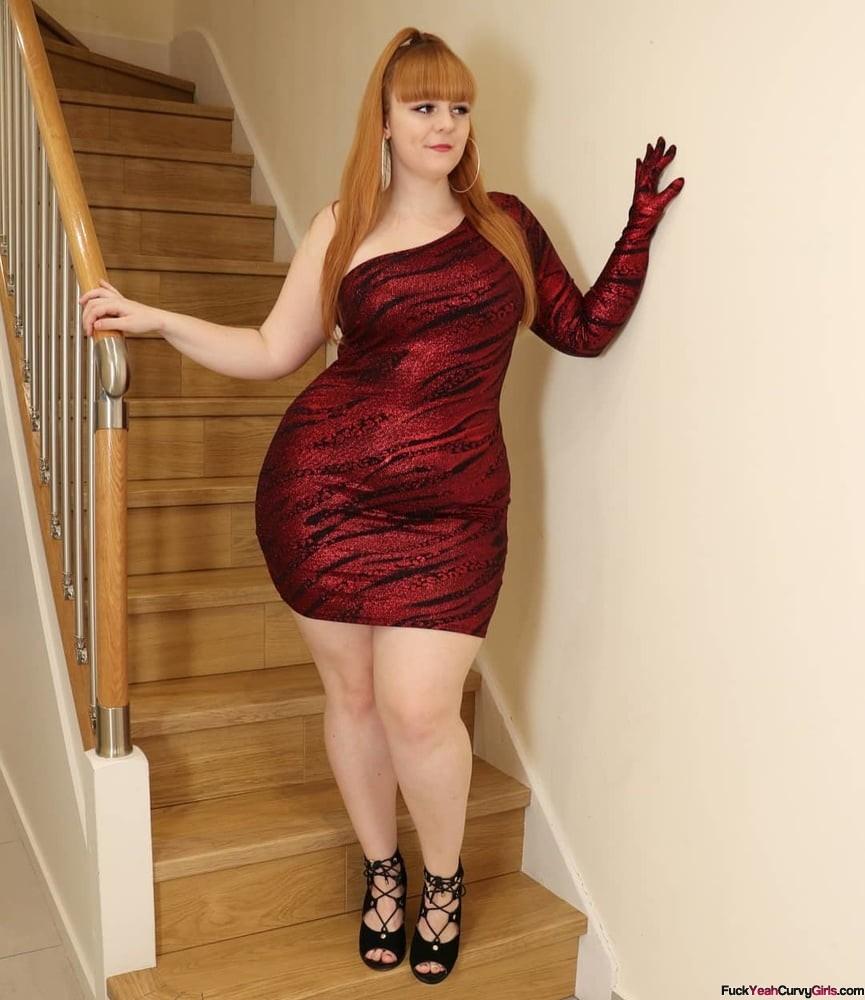 bbw-british-babe-tight-dress