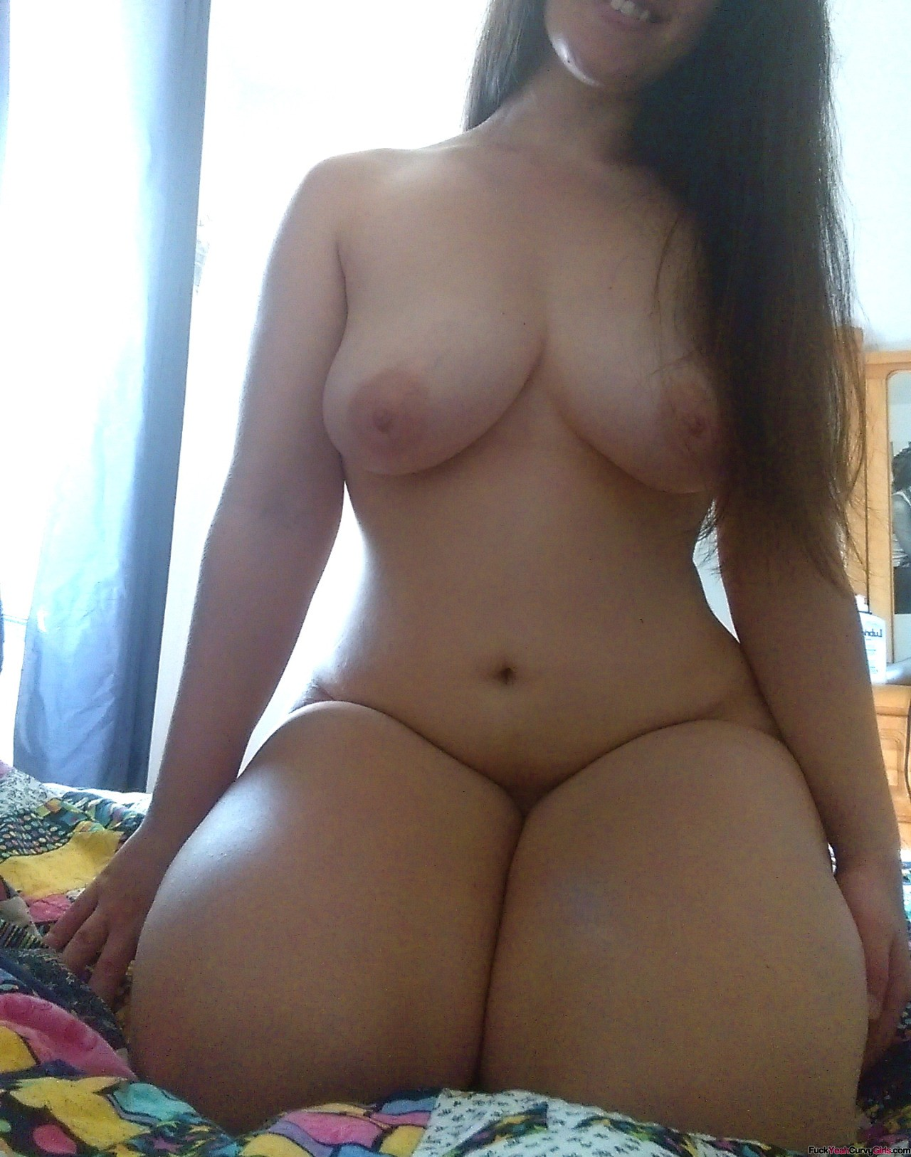 Cute amateur woman think