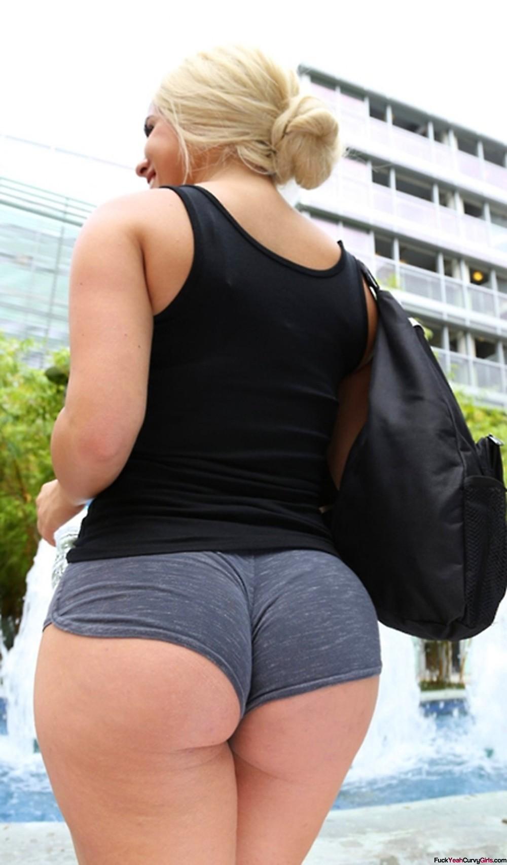 Hot girl in booty shorts