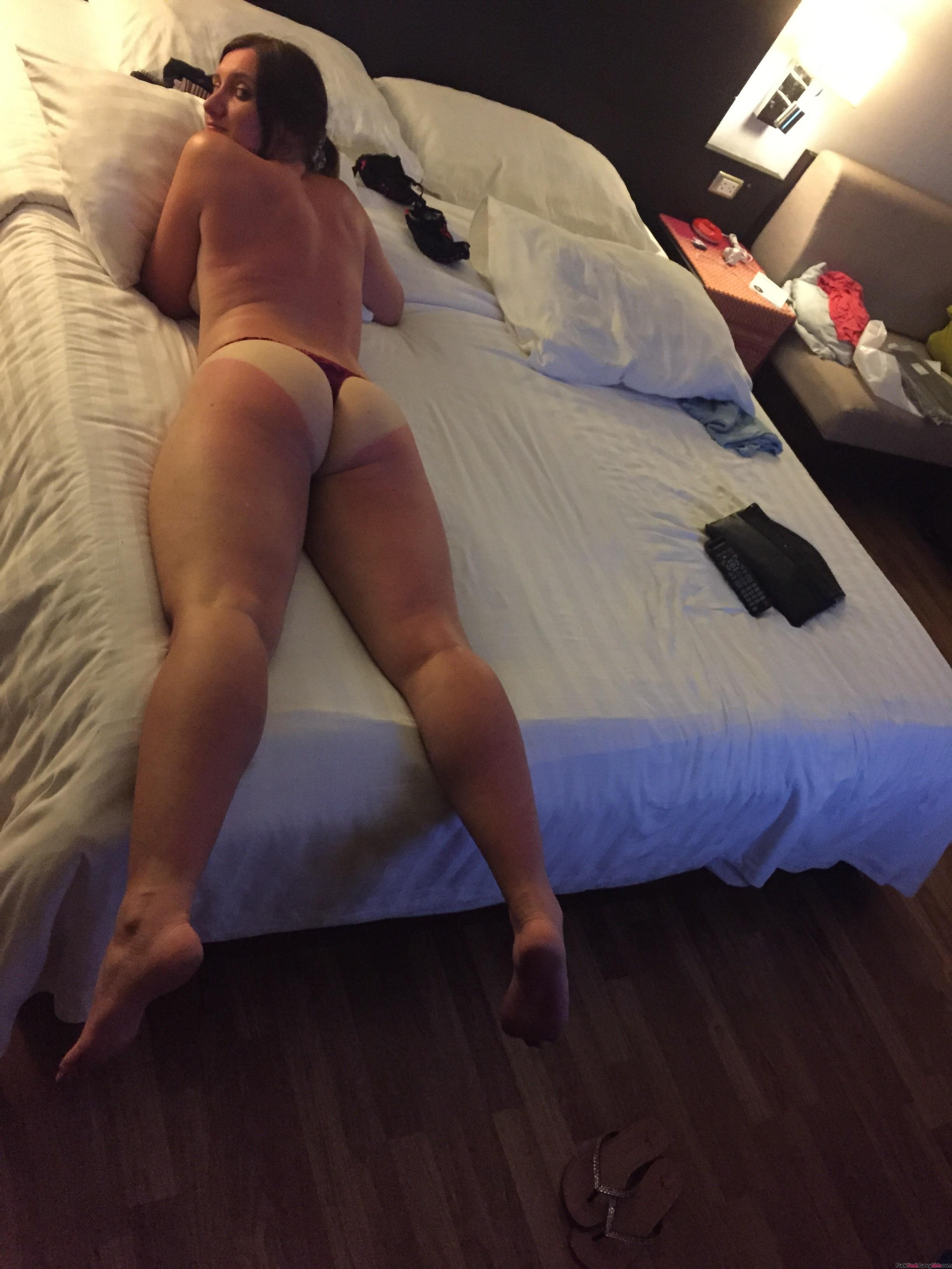 Wife tanlines ass