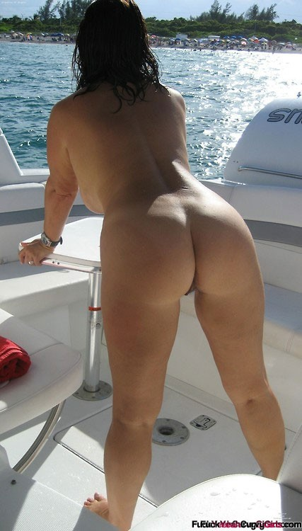 Older milf shorts boat